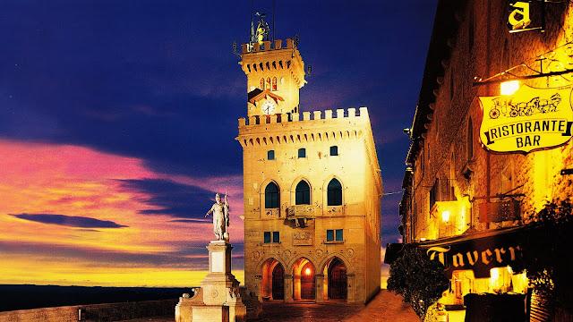 Palazzo Pubblico Beautiful Perspective San Marino HD Desktop Wallpaper
