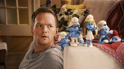 The Smurfs movie crochet blanket