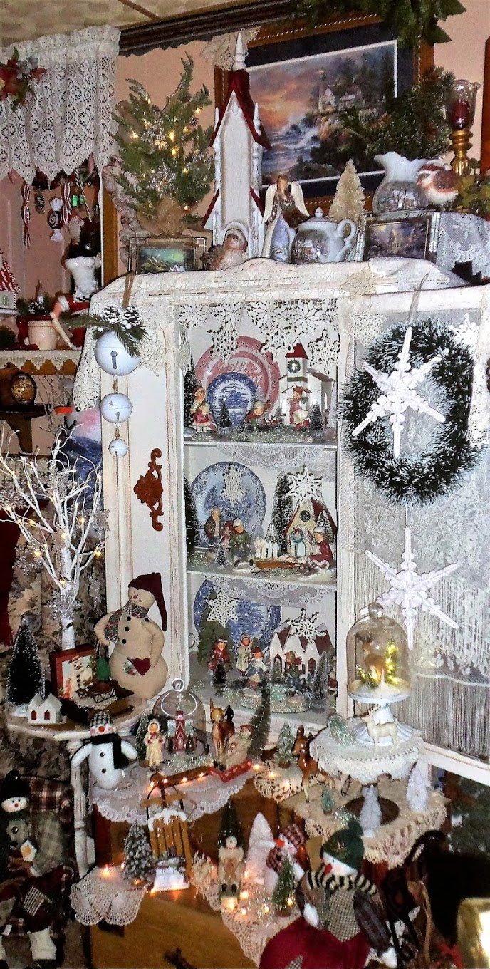 Winter China Cupboard in the Den, 2017