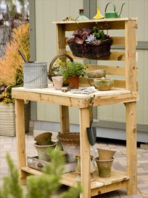Diy pallets of wood 30 plans and projects pallet for Pallet furniture projects