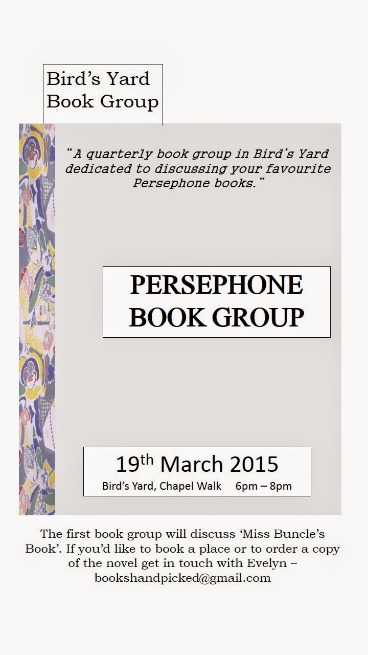 Persephone Book Group at Bird's Yard Sheffield
