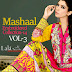 Mashaal Embroidered Collection 2014 Vol 3 by Lala | Mashaal Embroidered Dresses by Lala Textiles