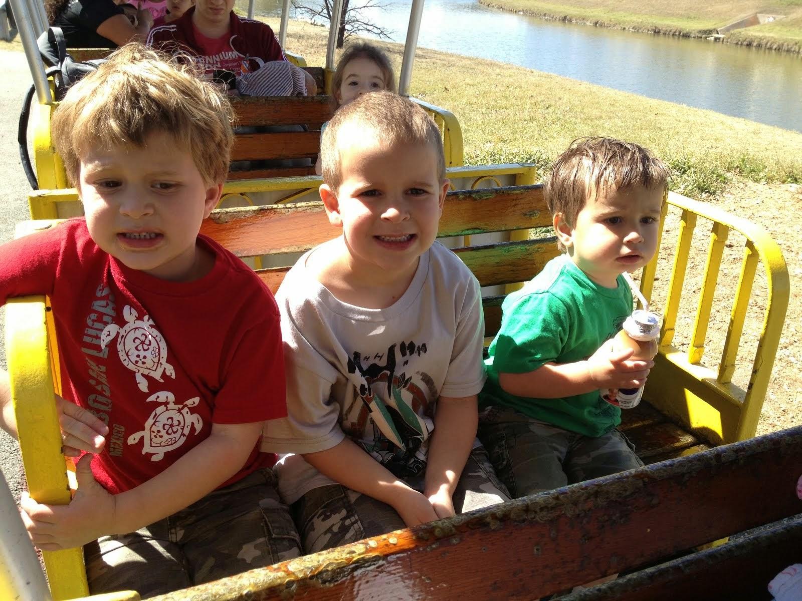 Weston 6, Caleb 4, Tyson 2