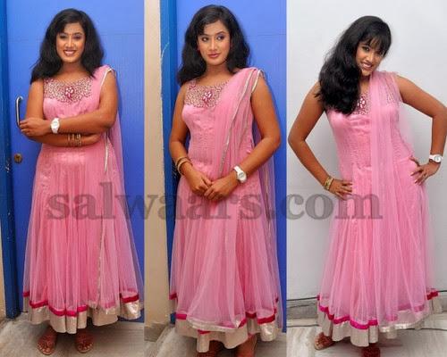 Sravani Baby Pink Salwar