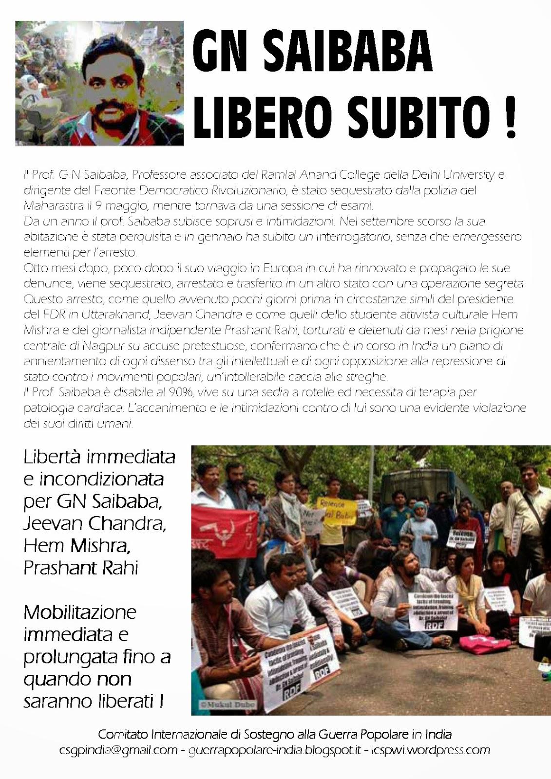 Proletari Comunisti Pc 11 Maggio Saibaba Libero