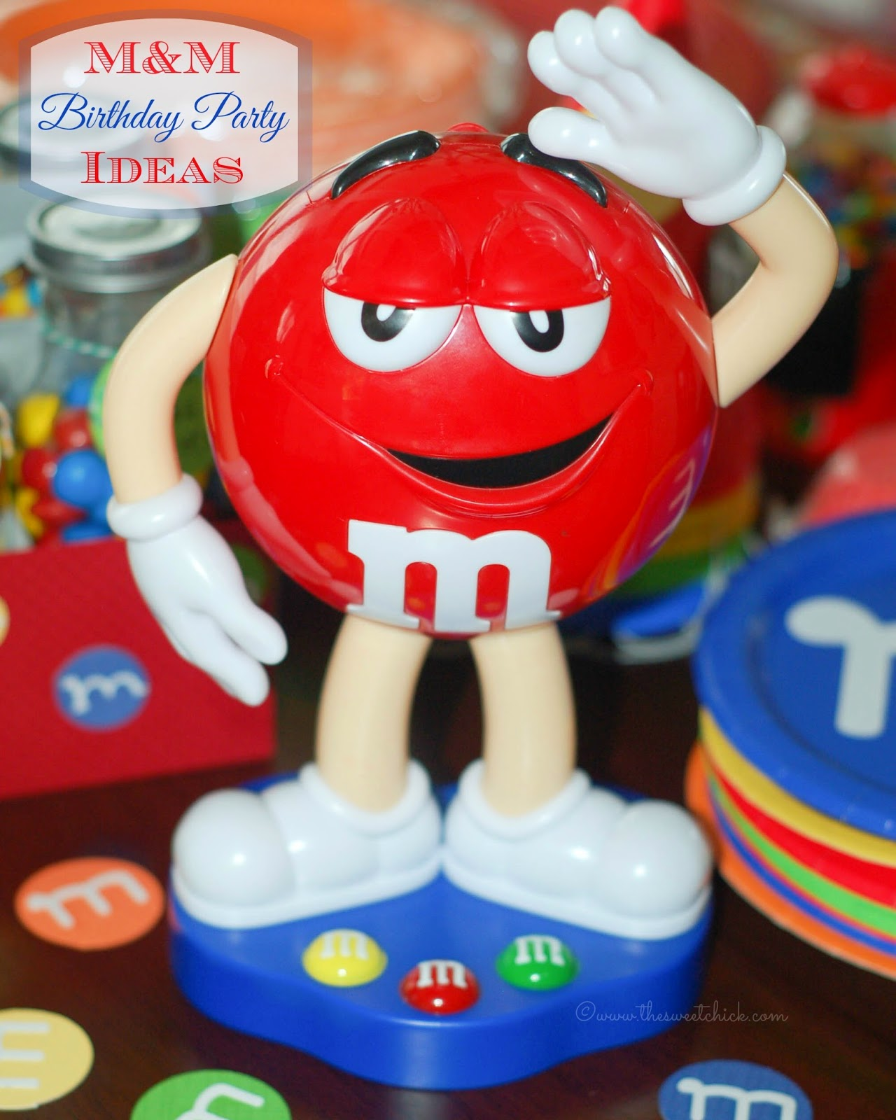 M&M Birthday Party Ideas by The Sweet Chick