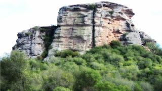 Guaritas, rochas no Caminho para Minas do Camaquã. Em Caçapava do Sul (RS)