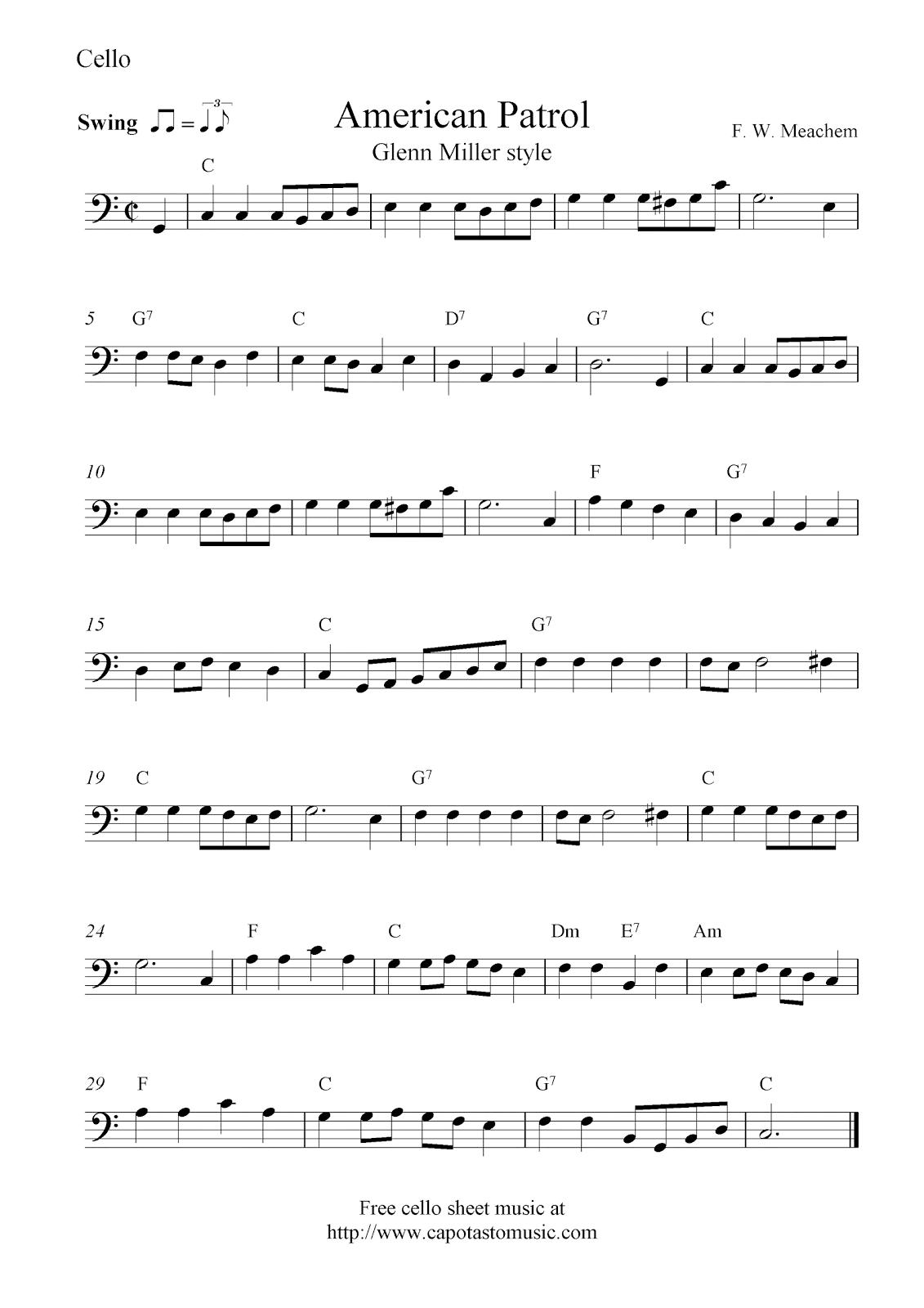 cello sheet music: