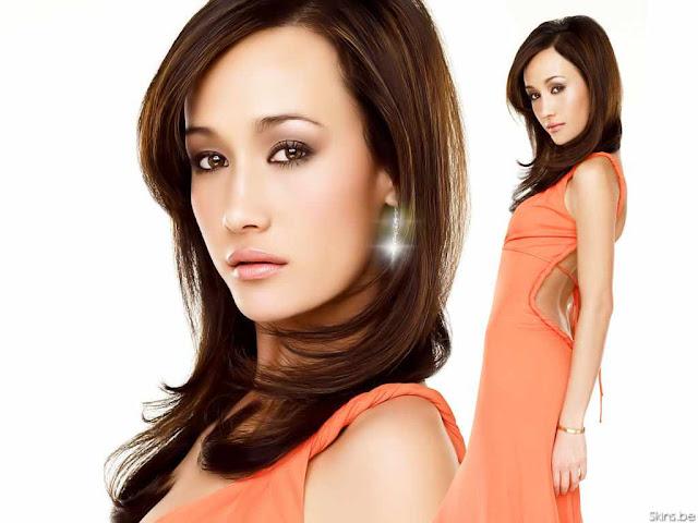 Maggie Q - Orange Dress Fashion