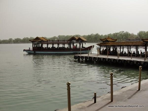 boat ride at Summer Palace in Beijing, China