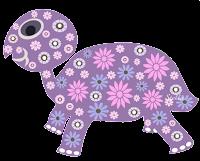 Tartaruga floral - Criação Blog PNG-Free