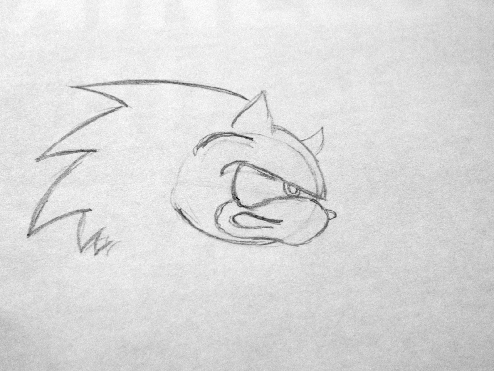 how to draw sonic shadow and silver step by step