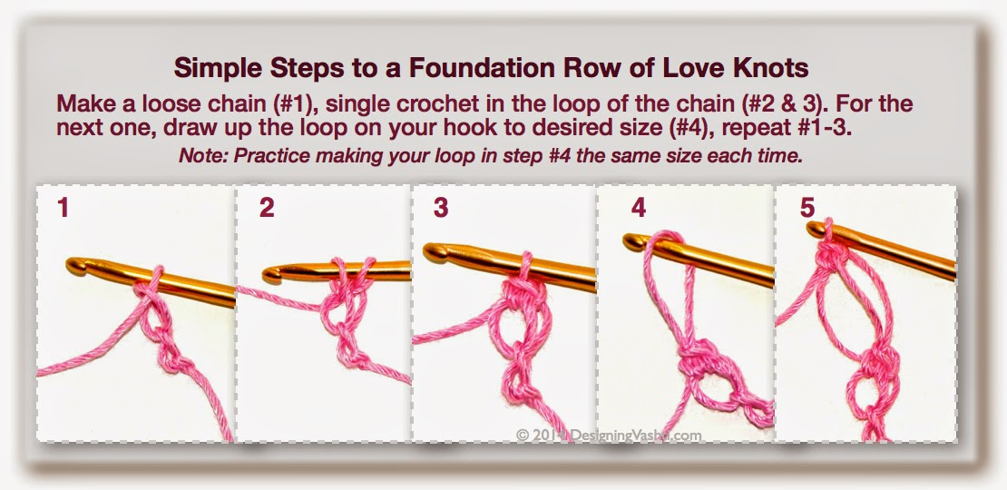 Crochet pattern companion how to crochet a love knot part 1 of 3