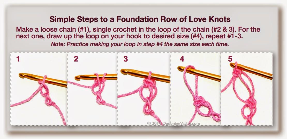 Crochet Stitches Love Knot : Vashtis Crochet Pattern Companion: How to Crochet a Love Knot, Part 1 ...
