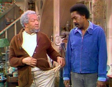 Redd Foxx and Demond Wilson as Sanford & Son... so funny!