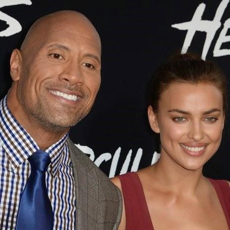 Dwayne Johnson e Irina Shayk em première em Los Angeles, nos Estados Unidos