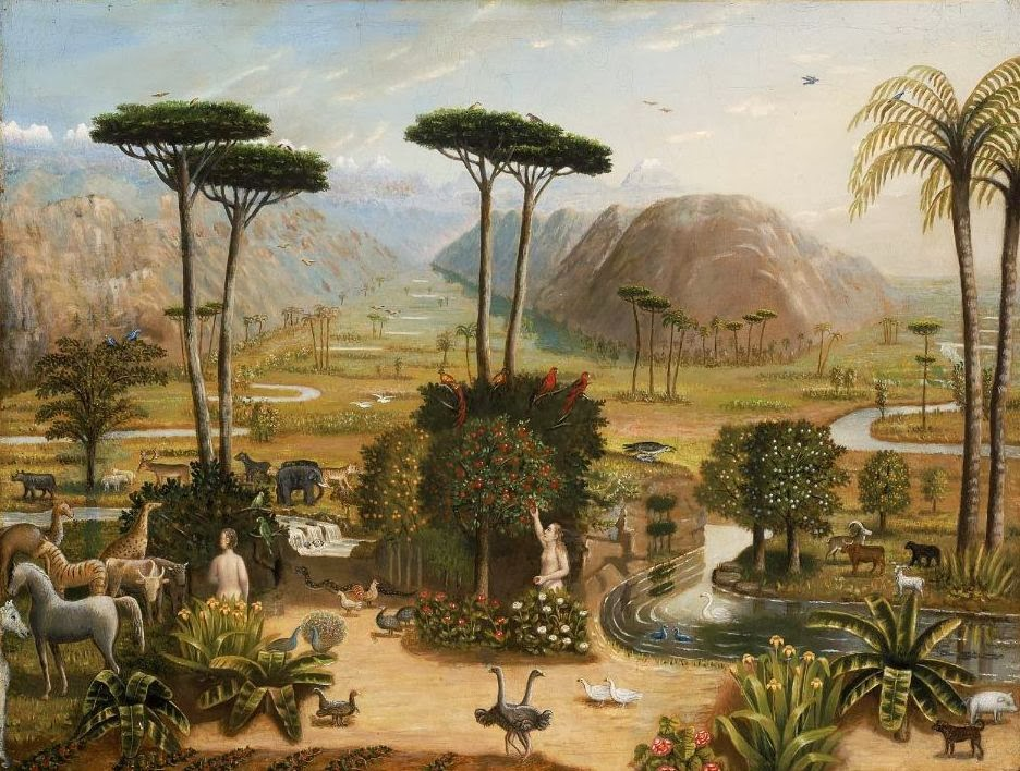 Paintings of spring the garden of eden in painting for Jardin of eden