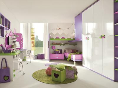dormitorio rosa lila