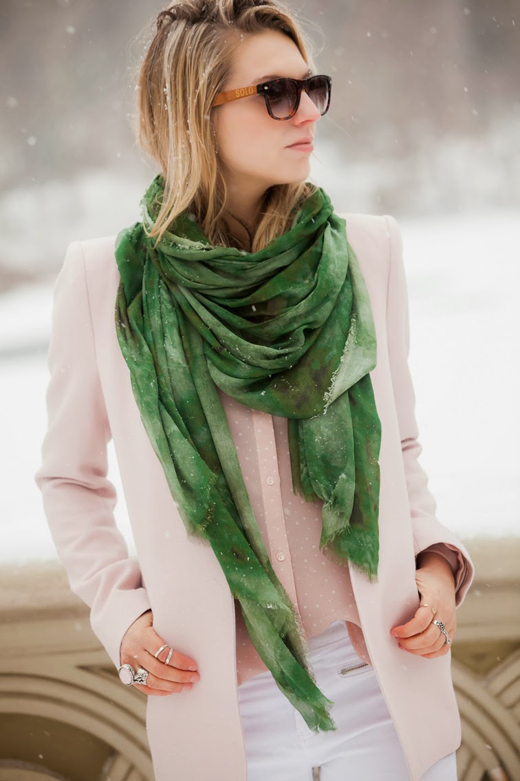 Bindya green scarf give away Solo eyewear Saint Laurent Arty ring pastels