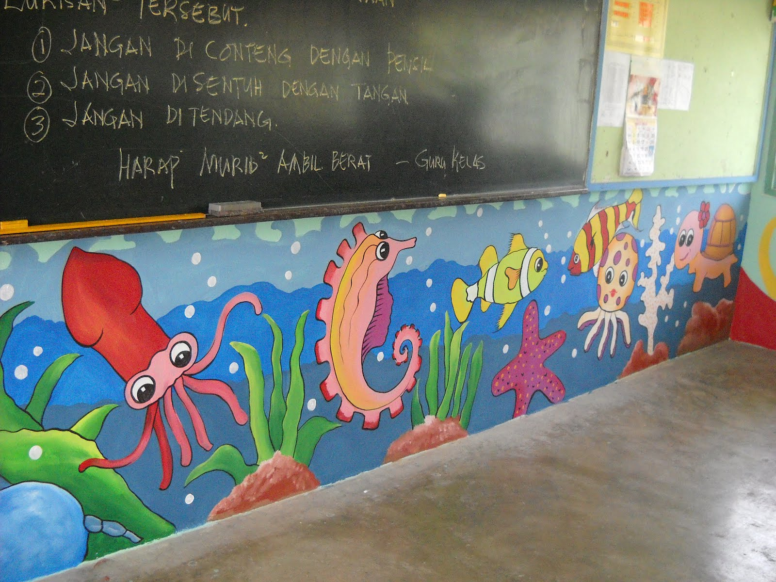 Pelukis mural shah alam sk sg udang klang for Mural hidupan laut