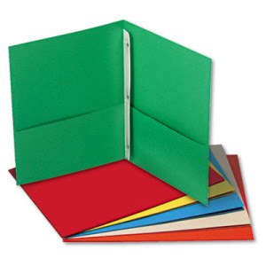 Student Folders BindersClip Art Pocket Folder