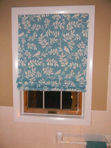 Bathroom Roman Shade