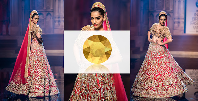 Swarovski Crystal Metallic Sunshine Abu Sandeep, Sonam Kapoor