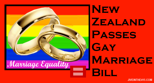 New Zealand passes gay marriage bill
