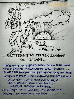 armaila.com - Lukisan Karya Khairil Amri Nasution - Saat penantian tak sanggup dijalani