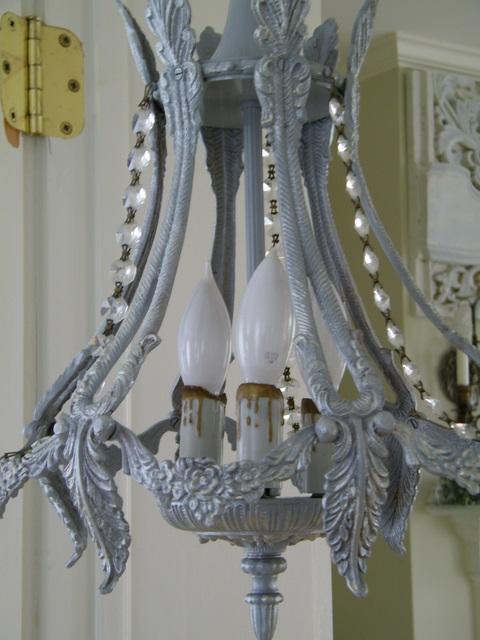 Maison Decor French Grey Chandelier – Grey Chandelier