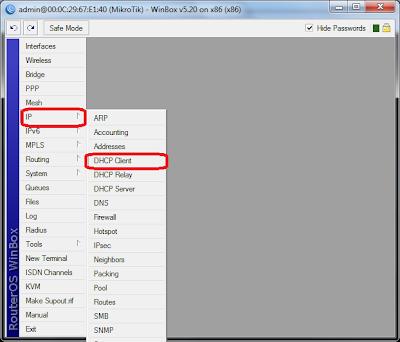 winbox mikrotik - dhcp client