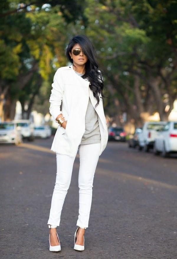 Tips Cantik Dan Modis Dengan Celana Warna Putih