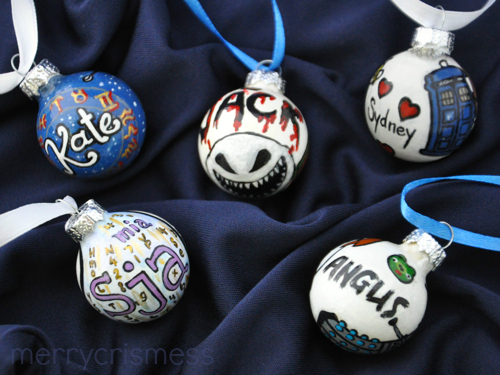 Handpainted Who Ornaments!