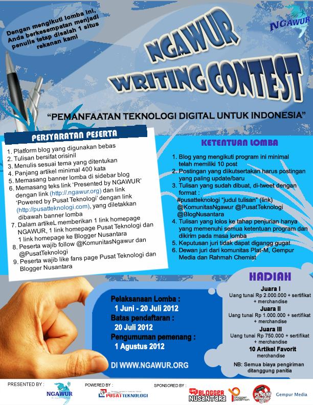 Info Lomba: Ngawur Writing Contest