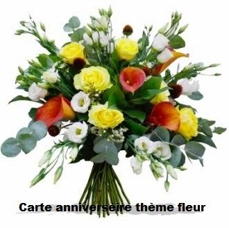 Carte anniversaire theme fleur texte anniversaire sms - Photo de fleur a imprimer ...