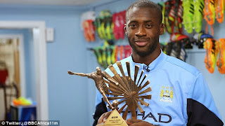Toure receives 2013 BBC African Footballer of the Year Award