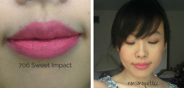 3CE 706 Lipstick Sweet Impact Swatch