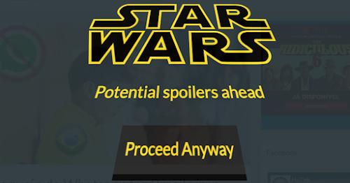 Extensão para Chrome bloqueia spoilers de Star Wars: O despertar da força