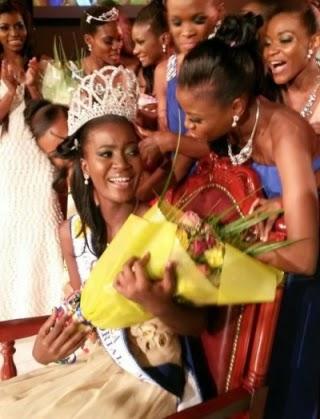 Miss Equatorial Guinea 2014 winner Agnes Genoveva Cheba Abe