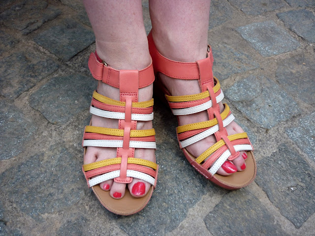 Multi Coloured Wedge Sandals | Petite Silver Vixen
