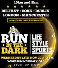 Run in the Dark Charity 5k/10k in Cork City...Wed 12th Nov 2014