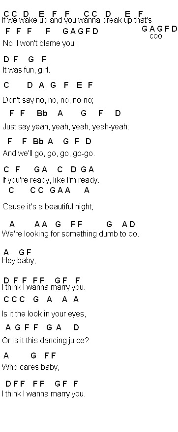 Flute Sheet Music Marry You