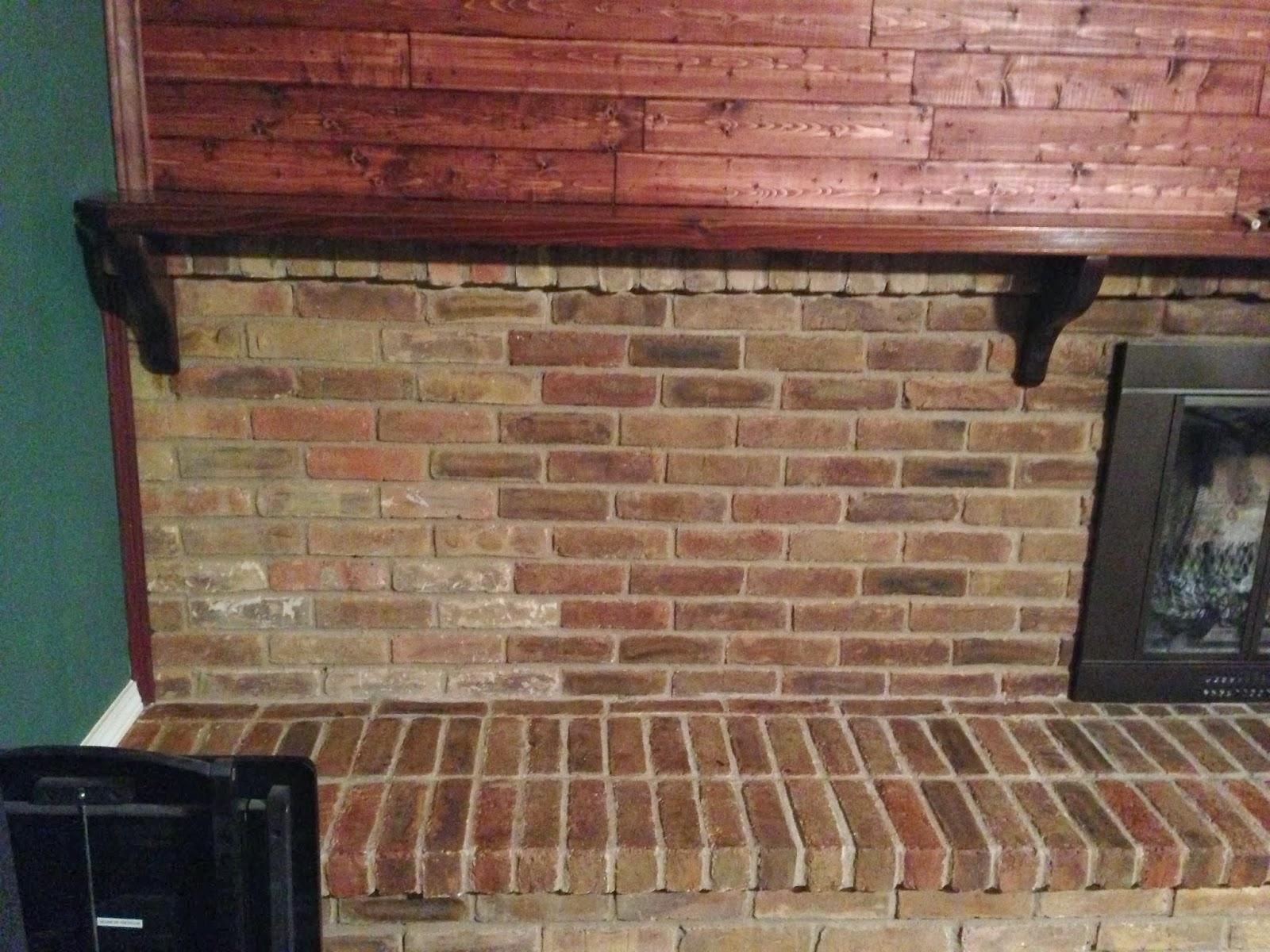 Wilker Do 39 S Diy Stain Fireplace Brick