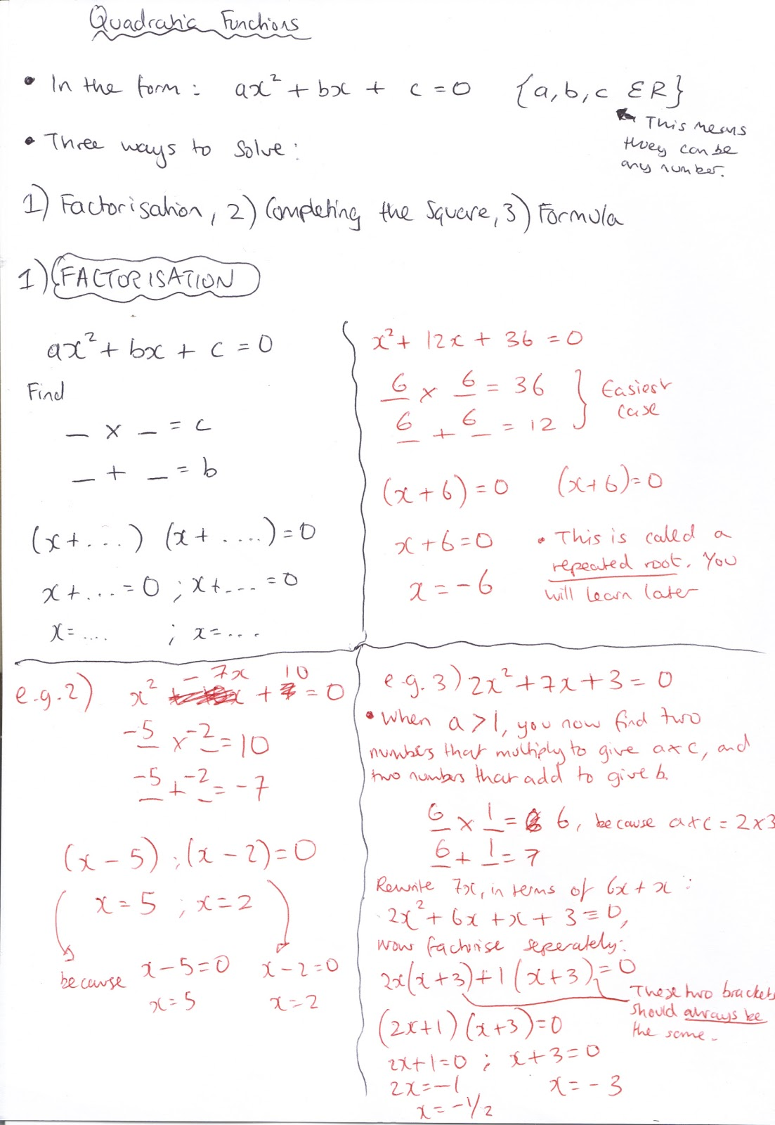 Completing The Square We Can Solve, Quadratic Equations Using Three  Methods : A) Factorisation, B)
