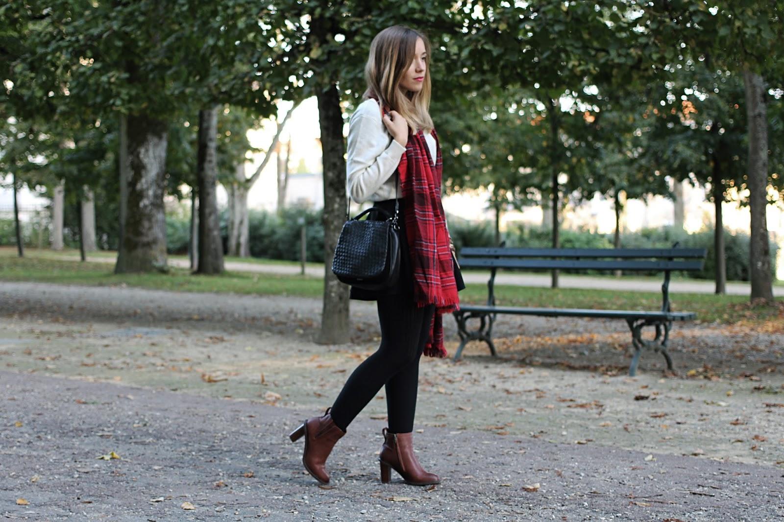 Tenue automne cachemire et bottines