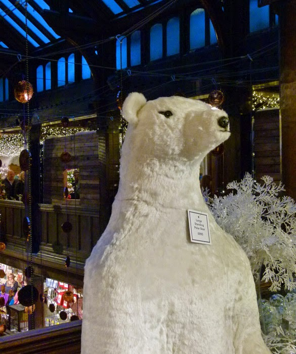 Liberty's of London, polar bear, Christmas shop