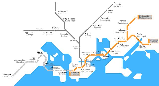 Plano de metro de Helsinki