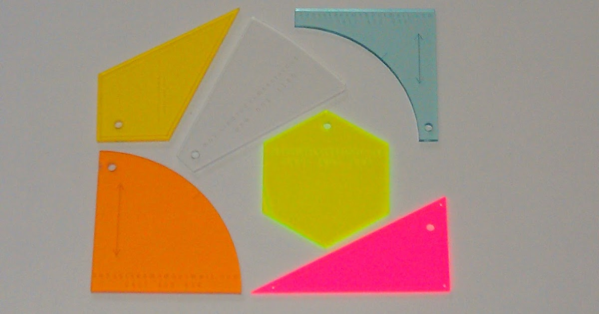 Sunset Seams: Acrylic Quilting Templates