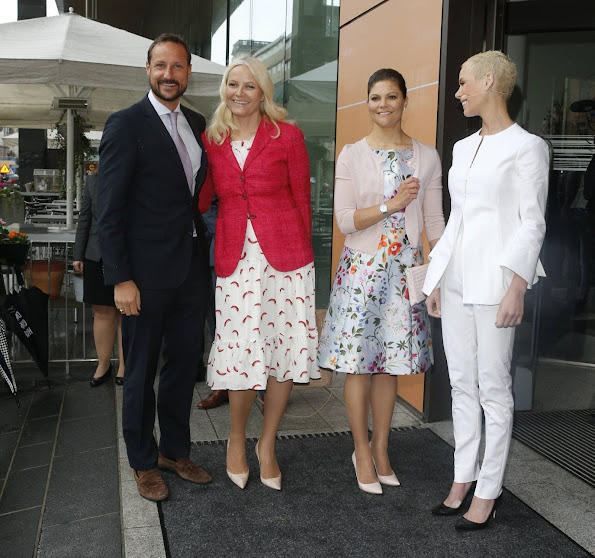 Crown Prince Haakon and Crown Princess Mette-Marit of Norway, Crown Princess Victoria of Sweden attended the Eat Stockholm Food Forum 2015