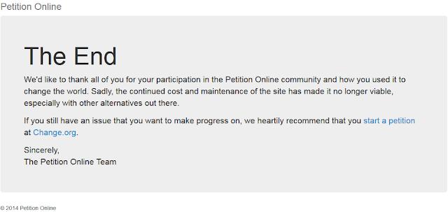 www.petitiononline.com telah mati